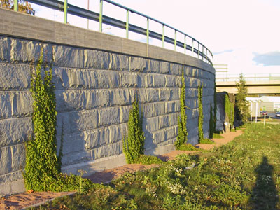 Outdoor areas have traditionally been punctuated with wall structures made of natural stone.