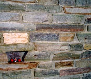 Liuskeet ovat myös suosittuja sisätilojen seinämateriaaleja.