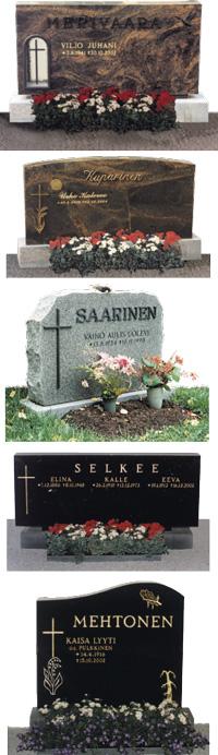 Loimaan Kiven suunnittelupalvelu auttaa hautakiven muoto- ja materiaalivalinnoissa. Perinteiset mallit ovat muotokieleltään yksinkertaisia ja sivuiltaan kiillotettuja.